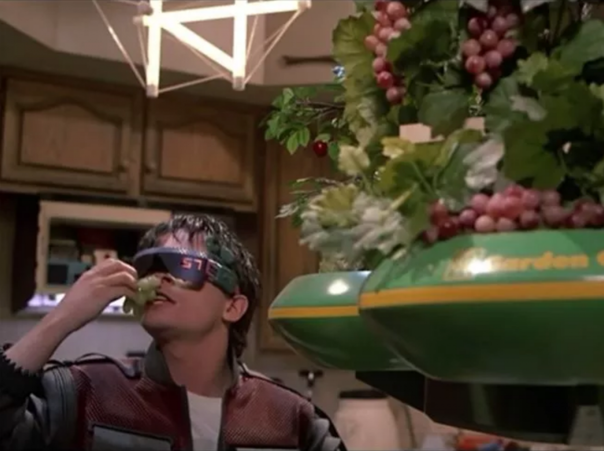 Predicciones de comida en Back to the Future 3